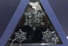 swarovski 2012 set 1xlarge 2xsmall annual snowflake ornament brand