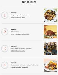 november 1 4 thanksgiving checklist martha stewart living