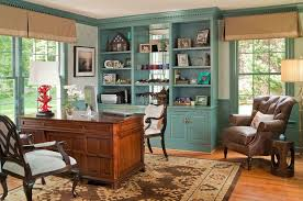Feng Shui Home Design Rules Home Office With Wooden Desk And Built In Bookcase Home Office