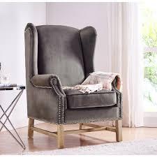 Velvet Wingback Chair Design Ideas Gray Wingback Chair Design Ideas Eftag