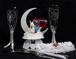 superman clark u0026 lois lane wedding cake topper lot glasses