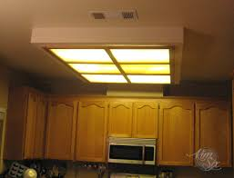 Kitchen Ceiling Light Fixtures Fluorescent Removing A Fluorescent Kitchen Light Box The Six Fix