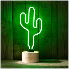 cactus neon table lamp green cacti neon and free delivery