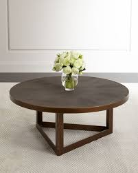 Ebba Faux Shagreen Round Coffee Table Neiman Marcus