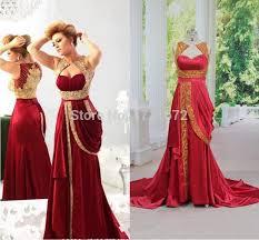 romantic vestidos de novia vermelho casamento bride dresses