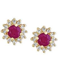 ruby stud earrings ruby earrings shop ruby earrings macy s
