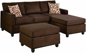 Small Brown Sectional Sofa 3 Pc Modern Reversible Brown Microsuede Sectional With Zebra Print