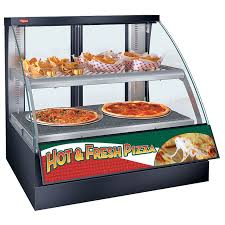 heated food display warmer cabinet case fscdh flav r savor convected air curved front display case