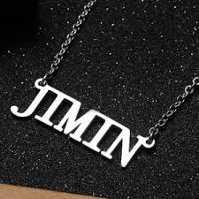 necklace with name ebay images Kpop bts bangtan boys jimin name letter steel pendant necklace jpg