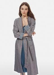 liberty print u0026 stripe dressing gown womens dressing gowns brora