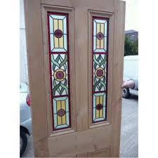 glass panel front door front door stained glass