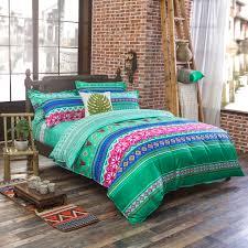 luxury bohemian bedding set 4pcs king queen full size cotton