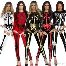 2017 new skeleton zombie costume women lady cosplay vampire