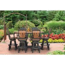oval pub table set amish made patio pub bar sets pinecraft com outdoor pub table