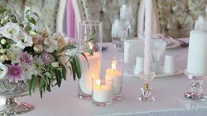 Interior Design With Flowers Wedding Decoration With Flowers And Candles Stock Footage Video