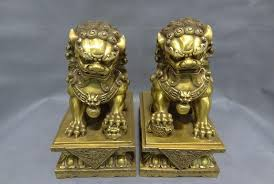 gold lion statues 2018 10 brass fengshui guard home s foo fu dog men