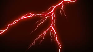 realistic lightning strikes thunderstorm with flashing lightning