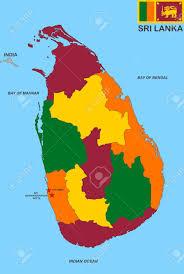 Sri Lanka On World Map by Very Big Size Sri Lanka Political Map Illustration Stock Photo