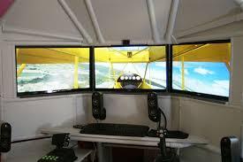 Flight Sim Desk Triple Screen Flight Simulator With Hotas Customer Gallery