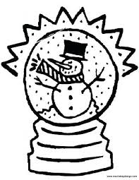 winter snow scene coloring pages printable snowman globe with a
