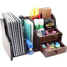Wood Desk Drawer Organizer Office Supplies Wood Desk Organizer Book Shelf Pen Holder