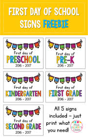 free updated for 2016 2017 first day of signs for