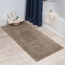 Taupe Bathroom Rugs Lavish Home 100 Cotton Reversible Bath Rug Taupe 24x60 Ebay