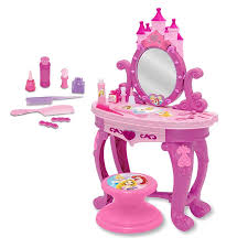 kidkraft princess table stool image of kidkraft princess vanity table and chair set pink purple