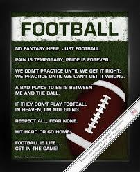 Engraved Football Gifts Football On Field 8x10 Sport Poster Print Football Players