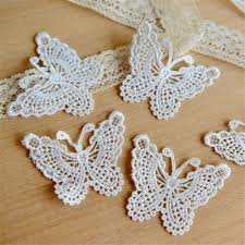 lace ribbon in bulk wholesale 1yard guipure butterfly applique trimming lace ribbon 45mm