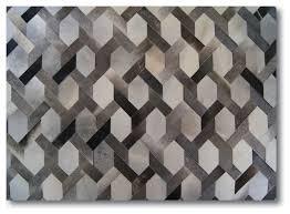 Area Rug Gray Milan Design Luxury Hide Patchwork Rug Gray 8 U0027x10