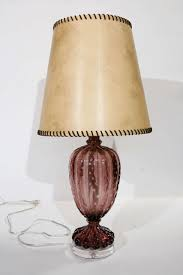 Glass Table Lamp Vintage Purple Murano Glass Table Lamp For Sale At 1stdibs