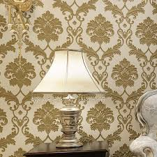 european vintage damask 3d stereoscopic wallpaper for walls