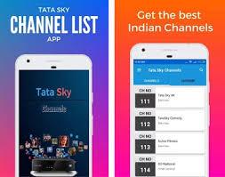 tata sky apk channel list for tata sky india dth apk version