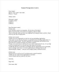 sle resignation letter with 2 week notice 6 exles in word