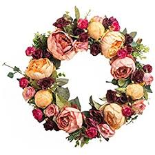 flower wreath door decor artificial wreath holidays decoration