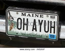 Maine Vanity License Plates Vanity License Plate Maine Stock Photo Royalty Free Image