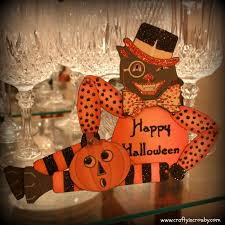 Crafty In Crosby Vintage Halloween Cat Paper Doll