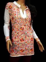 womens tunic tops kurta blouse white cotton caftan loungewear