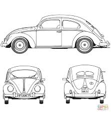 volkswagen bug drawing volkswagen beetle 1952 coloring page free printable coloring pages