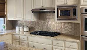 Brushed Stainless Steel Backsplash by Stunning Tiny Kitchen Design With Mosaic Brushed Stainless Steel