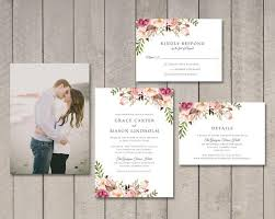 wedding invitations details card floral wedding invitation rsvp details card printable by