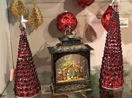 raz imports lighted water globe lantern nativity