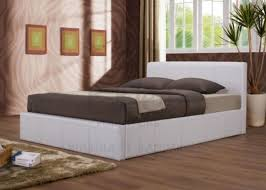 4ft Ottoman Beds Uk Birlea Ottoman 4ft Small Faux Leather White Bed Frame By Birlea