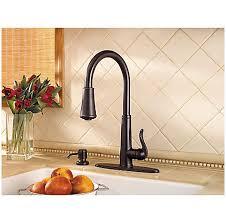 price pfister ashfield kitchen faucet tuscan bronze ashfield 1 handle pull kitchen faucet gt529