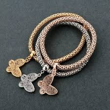 butterfly bracelet charms images Butterfly quot charm bracelet with austrian crystals pandoras box inc jpg