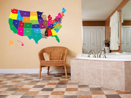 United States Map Wall Art by Extra Large Usa North America United States Map Of All 52