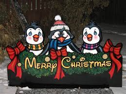 Outdoor Christmas Yard Decorations Canada by Penguin Christmas Decorations