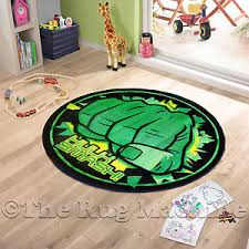 Superhero Rug Avengers Incredible Hulk Smash Kids Fun Rug 100x100cm Non Slip