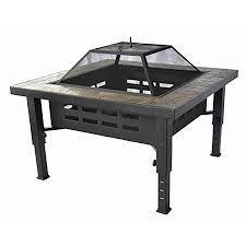 Lowes Firepits Shop Garden Treasures 34 In W Brushed Bronze Steel Wood Burning
